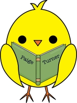 Paige Turner chick with book