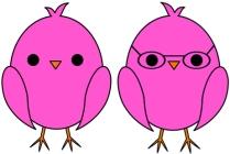 chick-pink-kassie and lauren